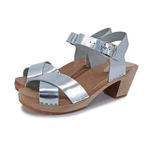 LOVA - schwedische Holz Clogs Sandale von me&myclogs - high mid heel - me&myClogs