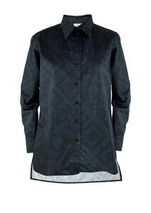 Unisex Shirt Lui, QR Black - Hemd aus Bio-Baumwolle - Sophia Schneider-Esleben