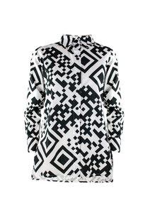 Unisex Shirt Lui, QR White - Hemd aus Bio-Baumwolle - Sophia Schneider-Esleben