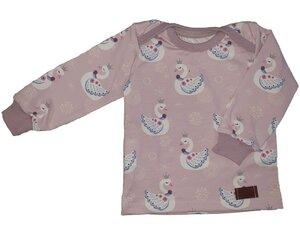 Babyshirt aus Biojersey Rotkehlchen/Schwanenliebe - Omilich