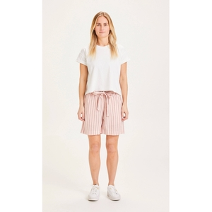 Gestreifte Paperbag Shorts TULIP mit Tencel - KnowledgeCotton Apparel