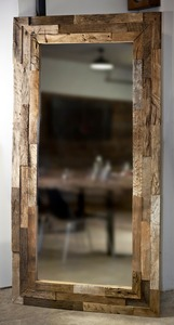 Altholz Spiegel 180 x 60 x 4 - [old oak]