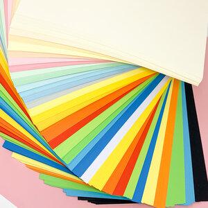 Kreatives Buntpapier A4 Format, Karton dünnes Papier, Pastell intensive Farben - 35/70/105 Stück, 26 Farben - 80 g/qm, 160 g/qm, 230 g/qm - PepMelon
