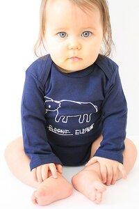 Kipepeo Baby- Body 'Elephant'  langarm - Kipepeo-Clothing
