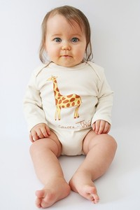 Kipepeo Baby- Body 'Twiga- Giraffe' langarm - Kipepeo-Clothing