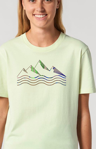 Reine Biobaumwolle klassisches weiches Shirt / acqua e montagne - Kultgut