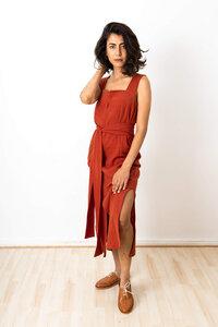 Kleid Shanti Mahagoni - Jyoti - Fair Works