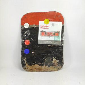 Magnettafel aus recycelten Ölfässern mit 5 bunten Magneten - Industrial Upcycling - verschiedene Farben verfügbar - Moogoo Creative Africa