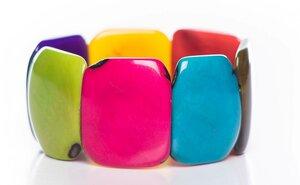 Tagua Armreif Armband poliert - Bea Mely