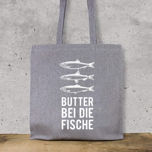 "Baumwoll-Beutel ""Butter bei die Fische"" - Bow & Hummingbird"
