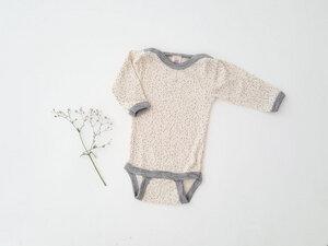 Baby Body langarm Wolle Seide Punkte | GOTS zertifiziert Engel Natur - Engel natur