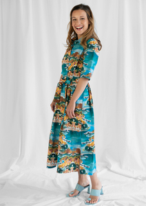 Dress Marie, Mimosa - Damenkleid aus Bio-Baumwolle - Sophia Schneider-Esleben