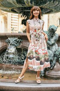 Dress Marie, Mohn - Damenkleid aus Bio-Baumwolle - Sophia Schneider-Esleben
