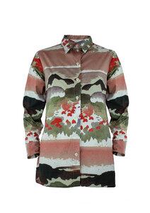 Unisex Shirt Lui, Mohn - Hemd aus Bio-Baumwolle - Sophia Schneider-Esleben