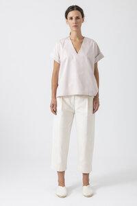 Damen Bluse Coco aus formbeständigen Biobaumwollstoff (kbA) - Grenzgang