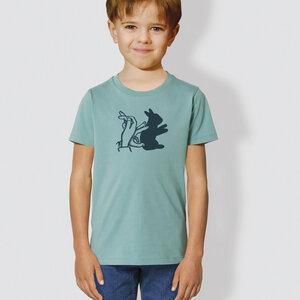 "Kinder T-Shirt, ""Schattenhase"" - little kiwi"