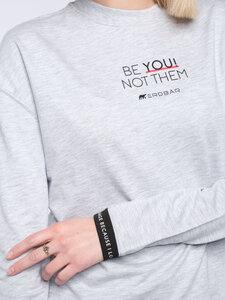 Damen Sweater BE YOU! NOT THEM (grau) - Erdbär