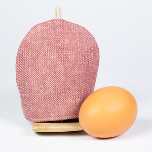 Eierwärmer aus Bioleinen mit Futter aus Merinowolle - nahtur-design