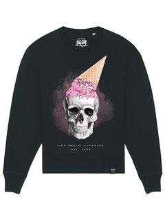 Eco Empire Skull with icecream | Oversize Unisex Sweatshirt - Eco Empire Clothing
