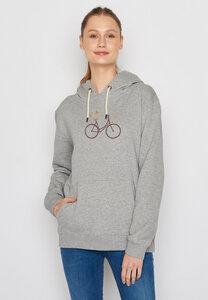 Damen Hoodie 100% Biobaumwolle Bike Birds Chipper - GreenBomb