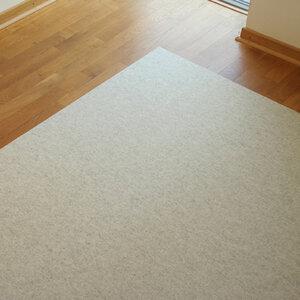 Filzteppich weiß-meliert 180 x 300 cm von tuchmacherin - tuchmacherin - handgewebtes design + filz