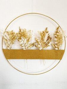Trockenblumenkranz Gold - Blooms 'n' Stories