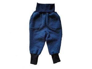 Kinder Wollfleecehose mit Taschen in Nachtblau oder Kurkuma - Ulalü
