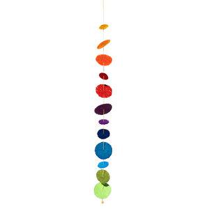 """Deko-Girlande """"Cascade Rainbow"""" aus handgeschöpftem Recycling Baumwollpapier - Sundara"""