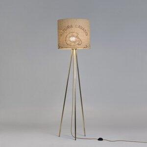 Stehleuchte Tripod-Perlbohne N°72 aus Bronze und Kaffeesack - lumbono