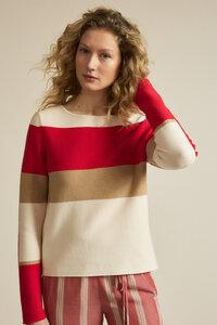 Pullover mit Colourblock GOTS aus Bio-Baumwolle - LANIUS