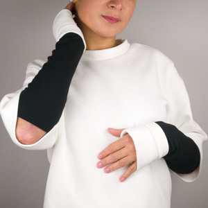 Armstulpe FOLD WHITE&BLACK - keijn