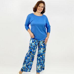 Kimono-Shirt Vera aus 100% Leinen (Leinen-Jersey) - AnRa Mode