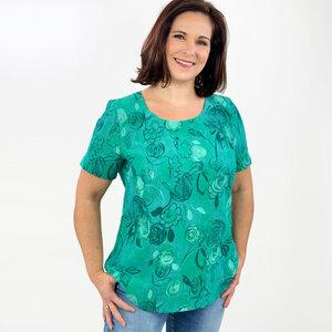 Shirt Fee aus 100% Leinen (Crash-Leinen) - AnRa Mode