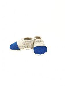 Hausschuhe für Kinder aus Wolle mit Ledersohle - Süßstoff
