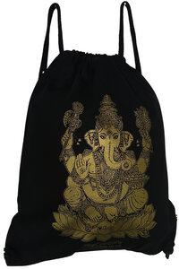 "YOGICOMPANY - Yoga Turnbeutel aus Bio-Baumwolle ""Ganesha"" gold - YogiCompany"