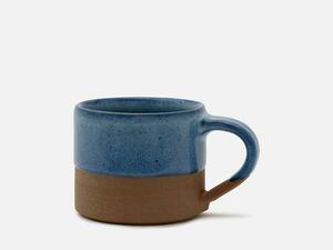 Zweifarbige Kaffee-Tasse aus Keramik mit Griff - FOLKDAYS