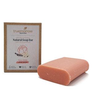truemorrow Natürliche Hand- und Hautpflegeseife mit cremig-blumigem Rose-Vanille Geruch - truemorrow