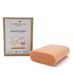 truemorrow Natürliche Hand- und Hautpflegeseife mit fruchtig-saftigem Orange-Granatapfel Geruch - truemorrow