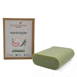 truemorrow Natürliche Hand- und Hautpflegeseife mit zitrus-frischem Grapefruit-Rosmarin Geruch - truemorrow
