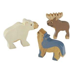 HEVEA - Holztiere Arktis Set 3 tlg. /Kautschukbaumholz (Fairtrade) - Hevea