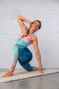 Yoga Bra Mandala Indigo Peach - Spirit of OM