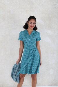 """Kleid aus Bambus-Faser und Bio-Baumwolle """"03211-0021 Clara tulip"""" - Lykka du Nord"""