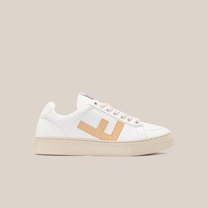 Sneaker Damen Vegan - CLASSIC 70's kicks - White Vanilla Grey - Flamingos' Life