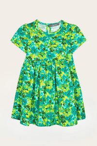 Bio Kleid Mädchen mit kurzem Arm - Blumenprint - Lore - Lana naturalwear