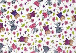 Jersey Bio-Baumwoll-Stoff Mäuseparty - Egedeniz Textile