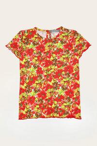 Bio Shirt Mädchen mit kurzem Arm, Uni oder Bunt - Lilly - Lana naturalwear