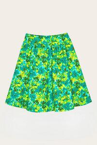 Bio Rock knielang, Blumenprint - Lina - Lana naturalwear