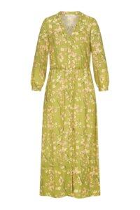 "Damen Midikleid aus 100% Lyocell mit Alloverprint ""Moonflower"", Farbe Moonflower Matcha - LANIUS"