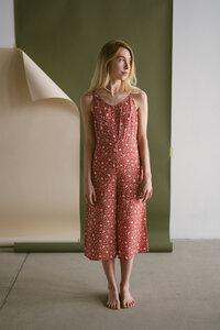 Culotte-Einteiler mit allover-Print aus Tencel - frankie & lou organic wear