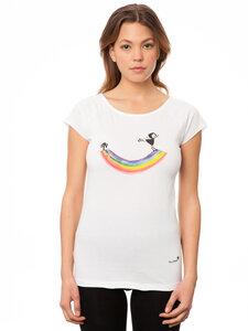 FellHerz Damen T-Shirt Rainbow Girl - FellHerz